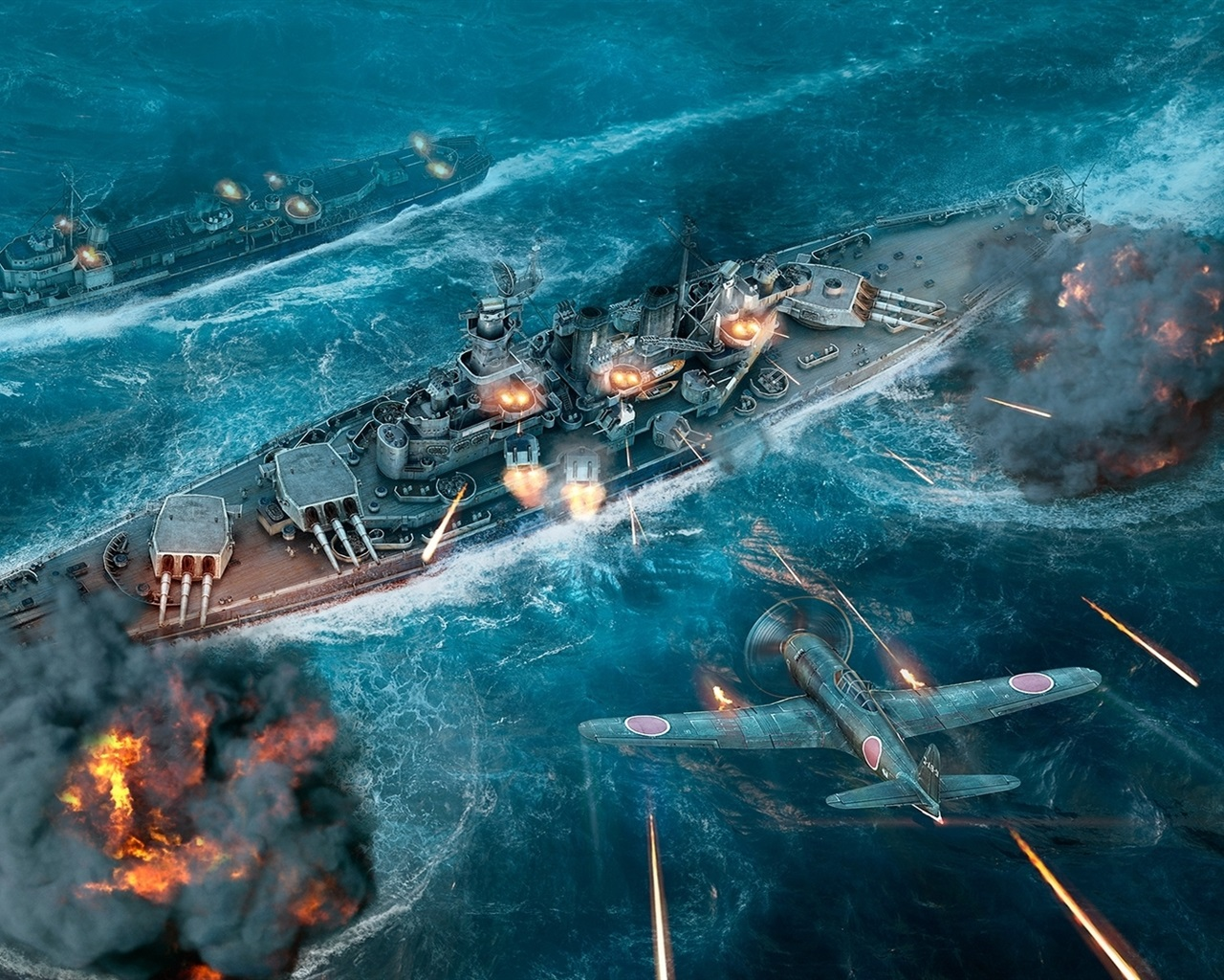 Wallpaper World Of Warships Ships Fighter 1920x1080 Full HD