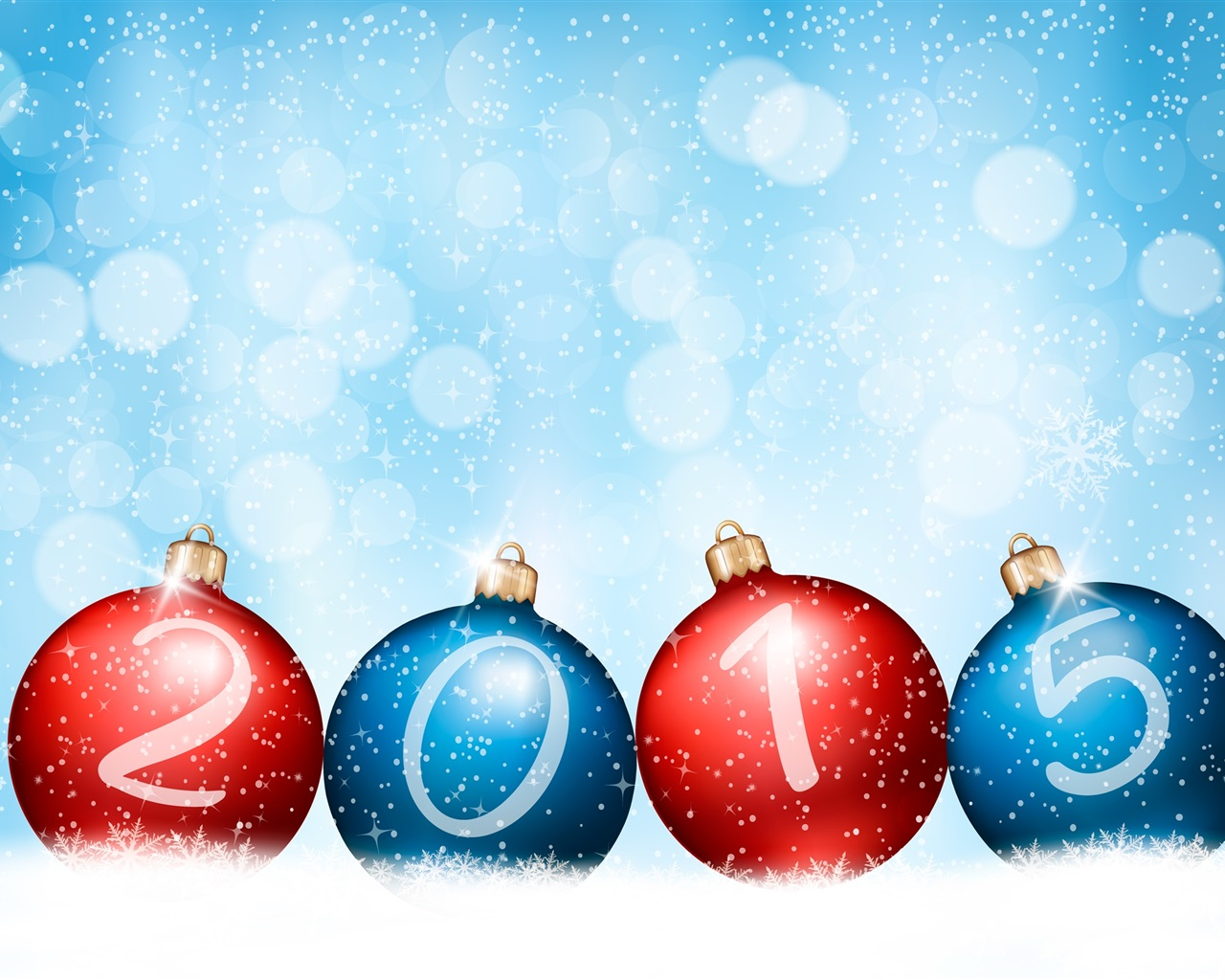 new year 2015 red blue balls wallpaper 1280x1024 description happy new ...