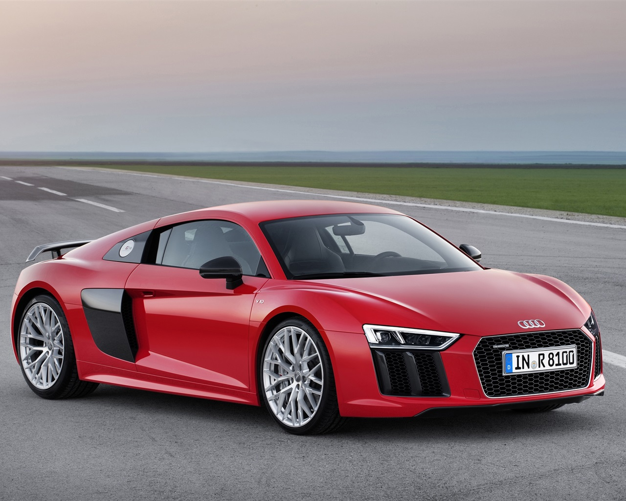 2015 Audi R8 Red Car Wallpaper 1280x1024 Resolution