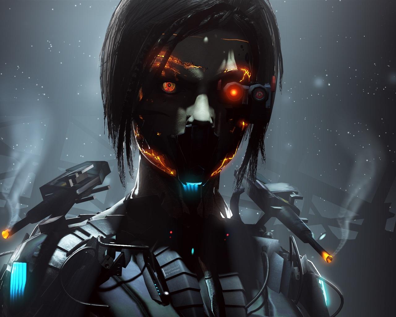 Wallpaper Cyborg Robot Girl Fantasy Creative Pictures