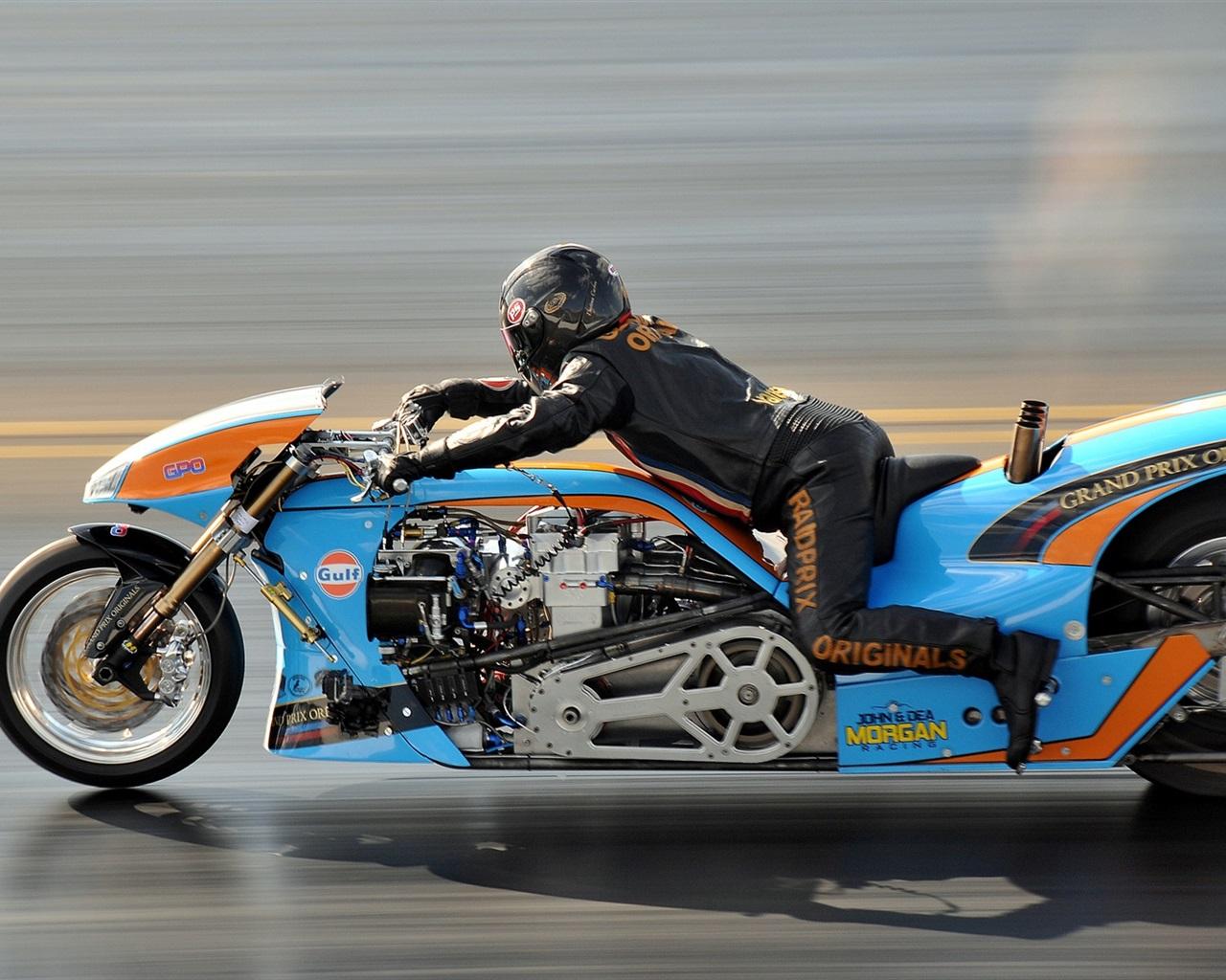 オートバイ、速度、ドラッグレース 壁紙 - 1280x1024   オートバイ、速度、ドラッグレ