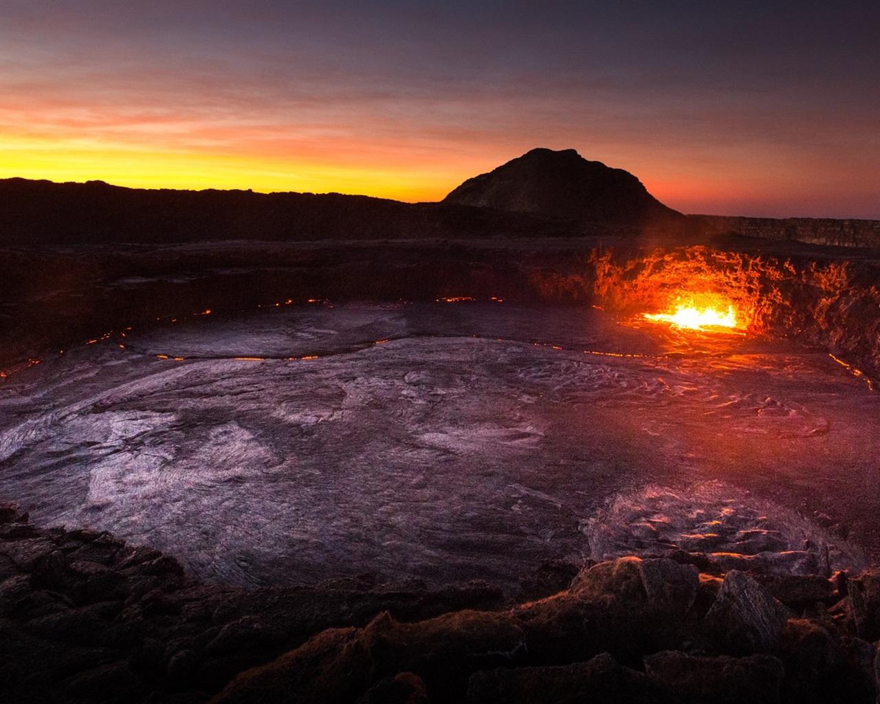 Fondos De Pantalla De Lava: Fondos De Pantalla África, Etiopía, Volcán, Lava