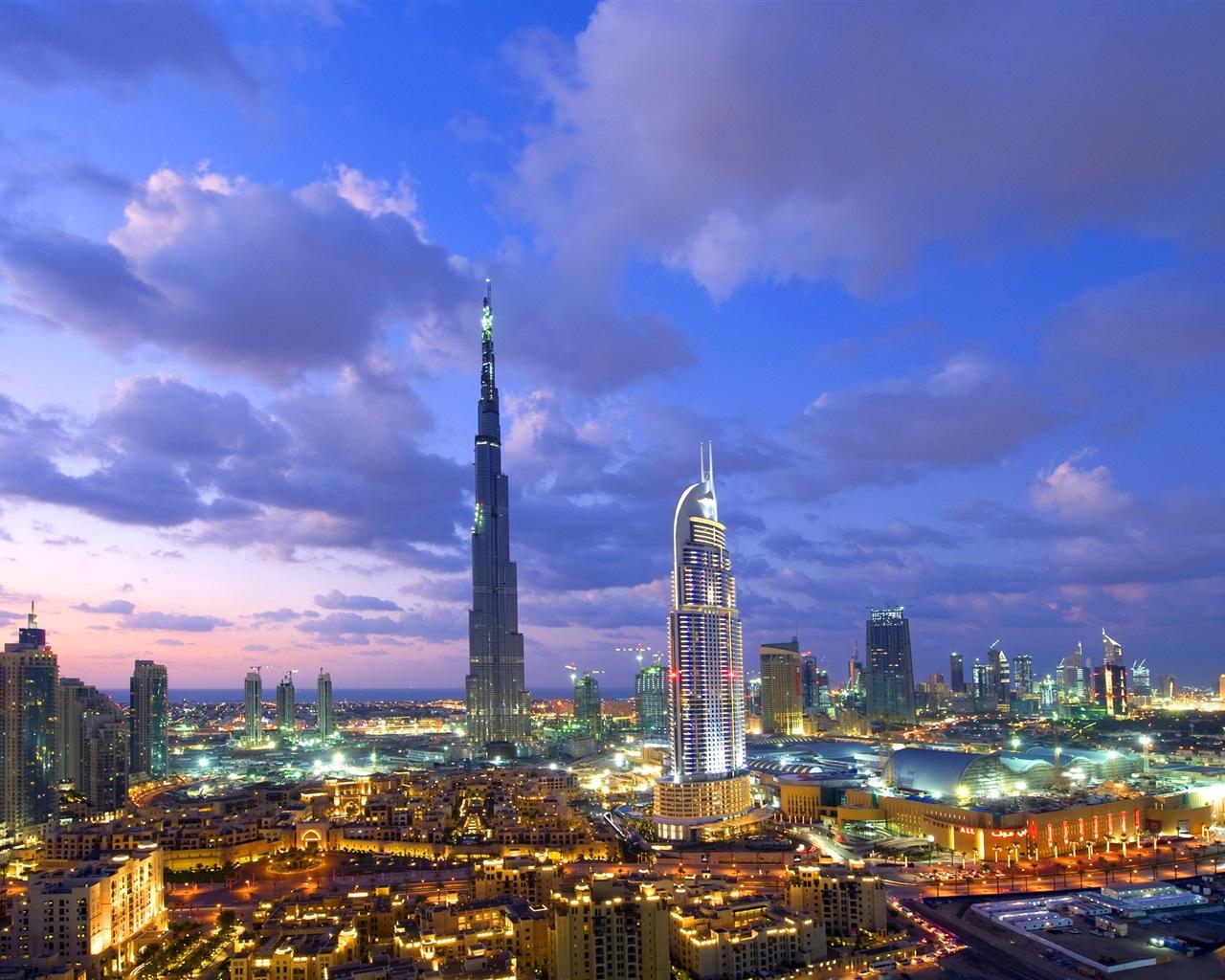 Dubai burj khalifa rascacielos noches las luces fondos for Luxury holidays in dubai