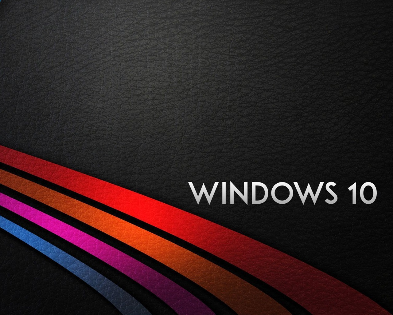 Wallpaper Windows 10 System, Rainbow Stripes Background