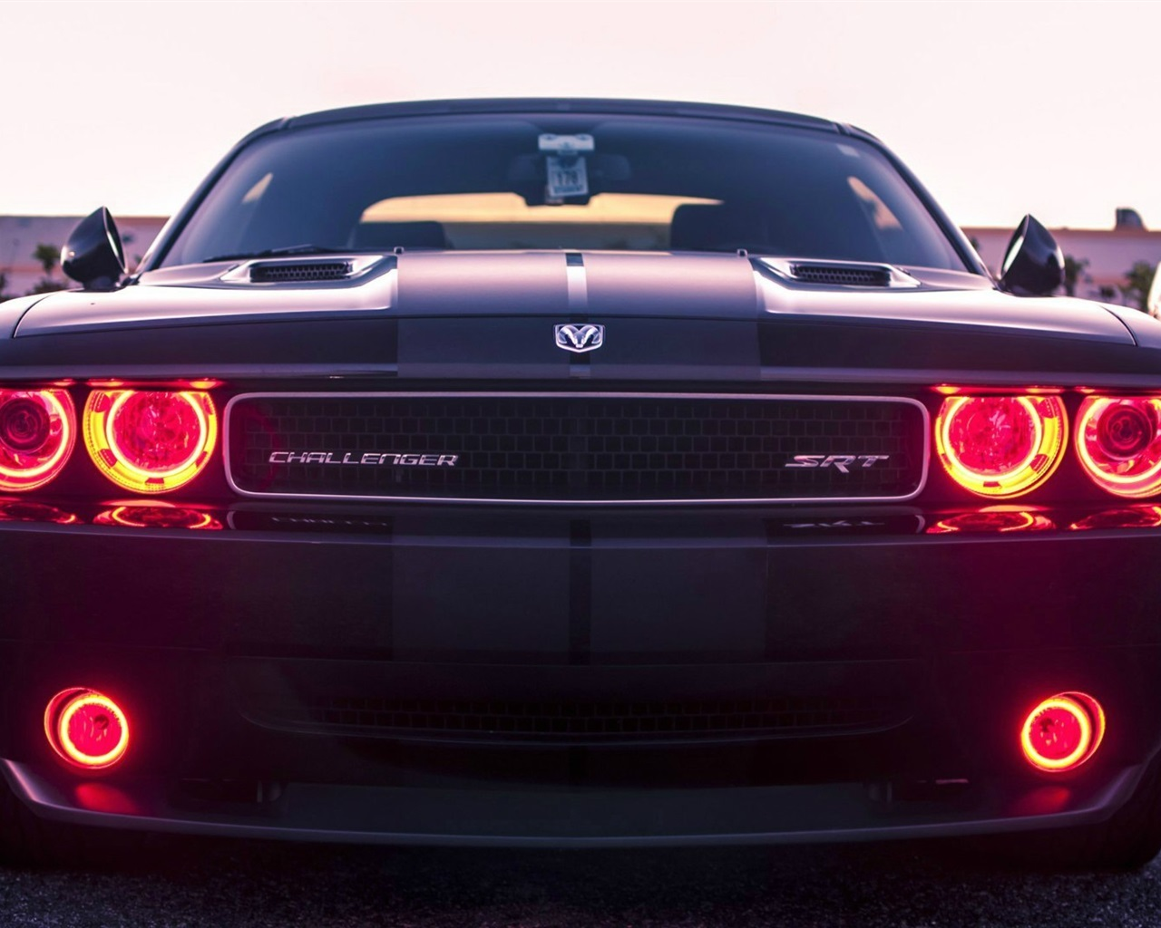 Wallpaper Dodge Challenger SRT8 classic car front view ...
