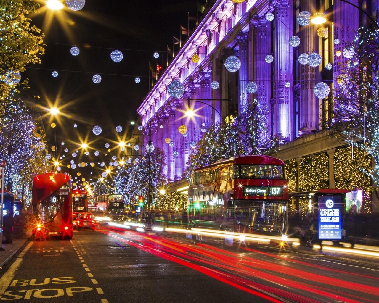 배경 화면 런던 영국 도시 거리 크리스마스 휴일 조명 1920x1200 Hd 그림 이미지