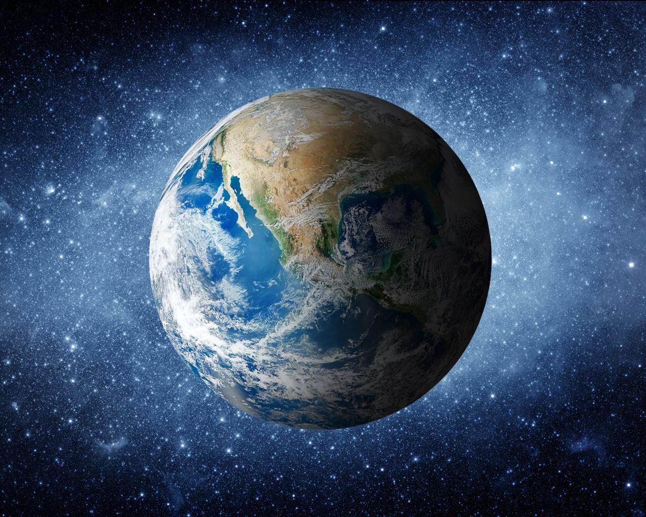 壁纸 美丽的蓝色的地球在太空,星星光 3840x2160 Uhd 4k 高清壁纸 图片 照片