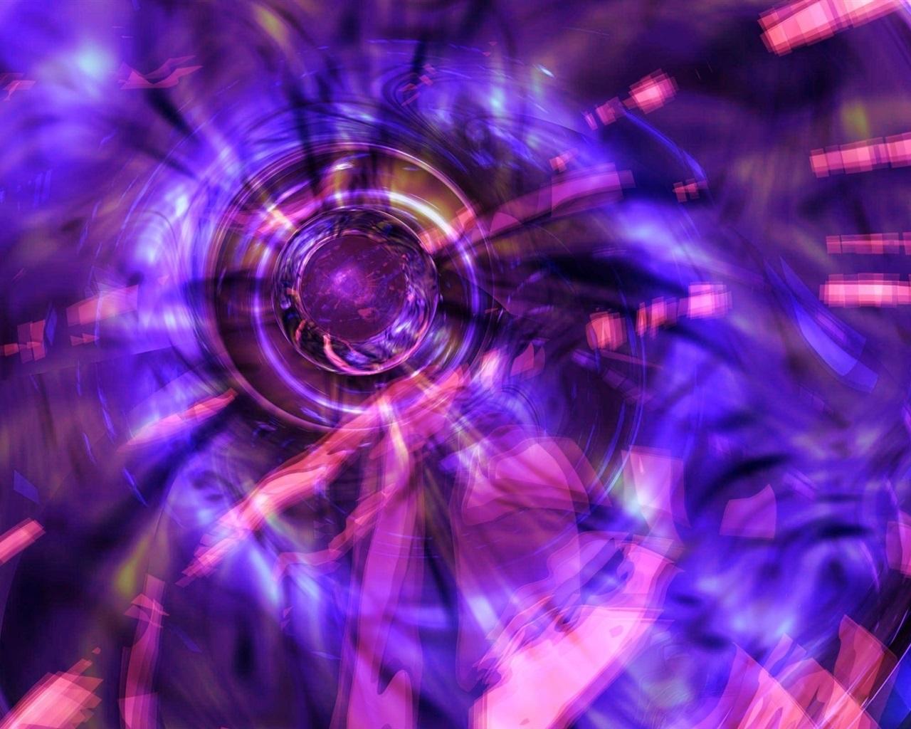 Fondo De Pantalla Abstracto Flores Y Circulos: Luz De Círculo Púrpura, Abstracto Fondos De Pantalla