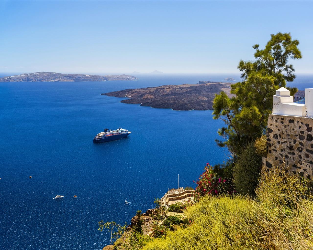Обои побережье, greece, coast, греция. Города foto 13