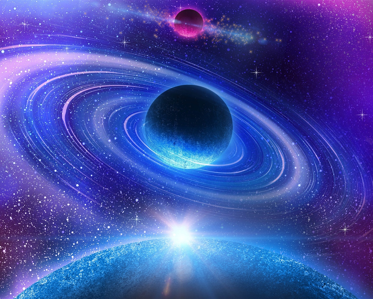 Fonds d'écran Beau univers, planète bleue 3840x2160 UHD 4K image