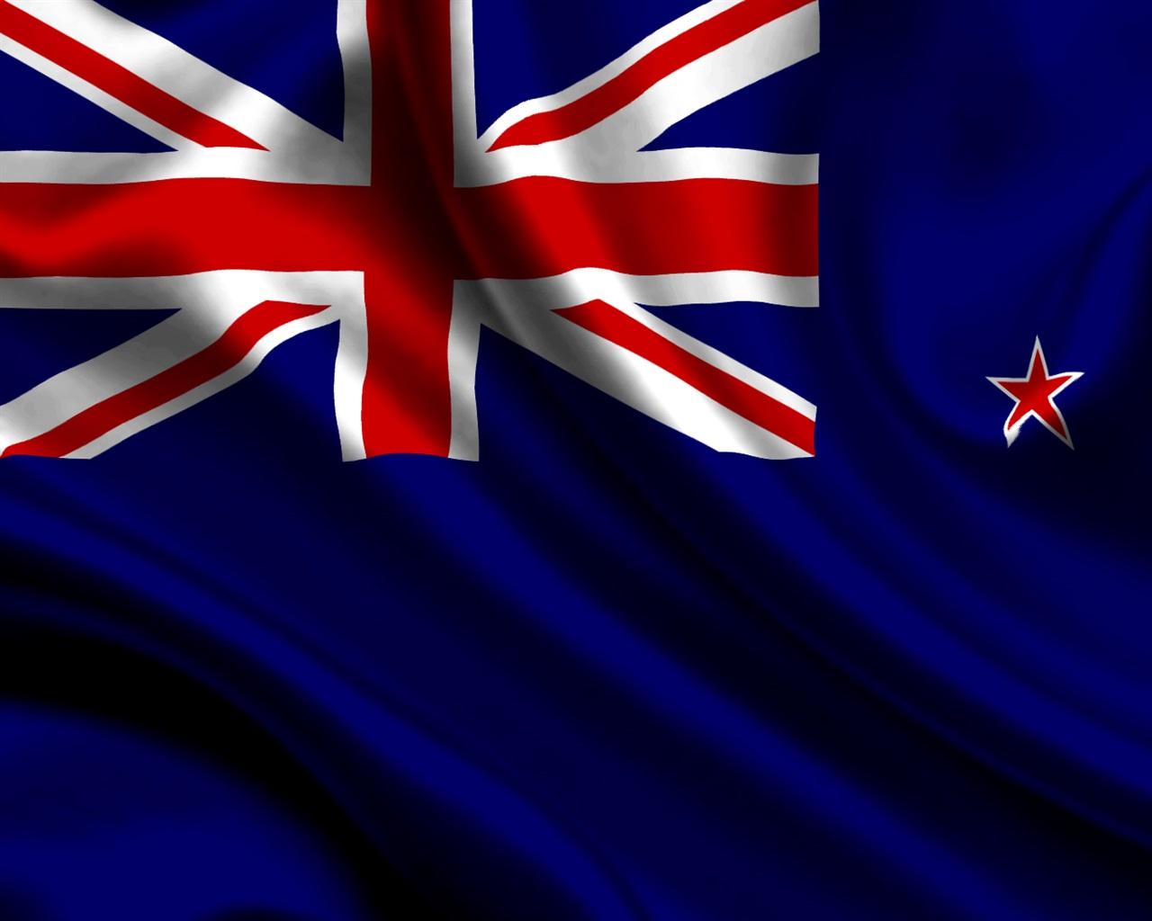 New Zealand Flag Wallpaper: Wallpaper New Zealand Flag 1920x1080 Full HD 2K Picture, Image
