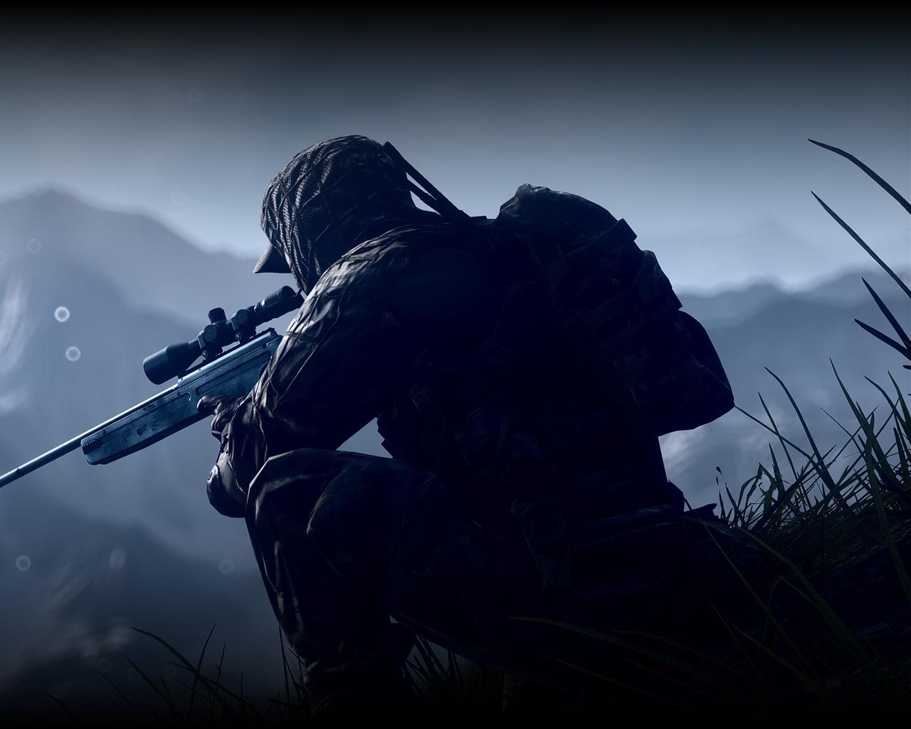 Wallpaper Battlefield 4, soldier, sniper 3840x2160 UHD 4K ...  Battlefield