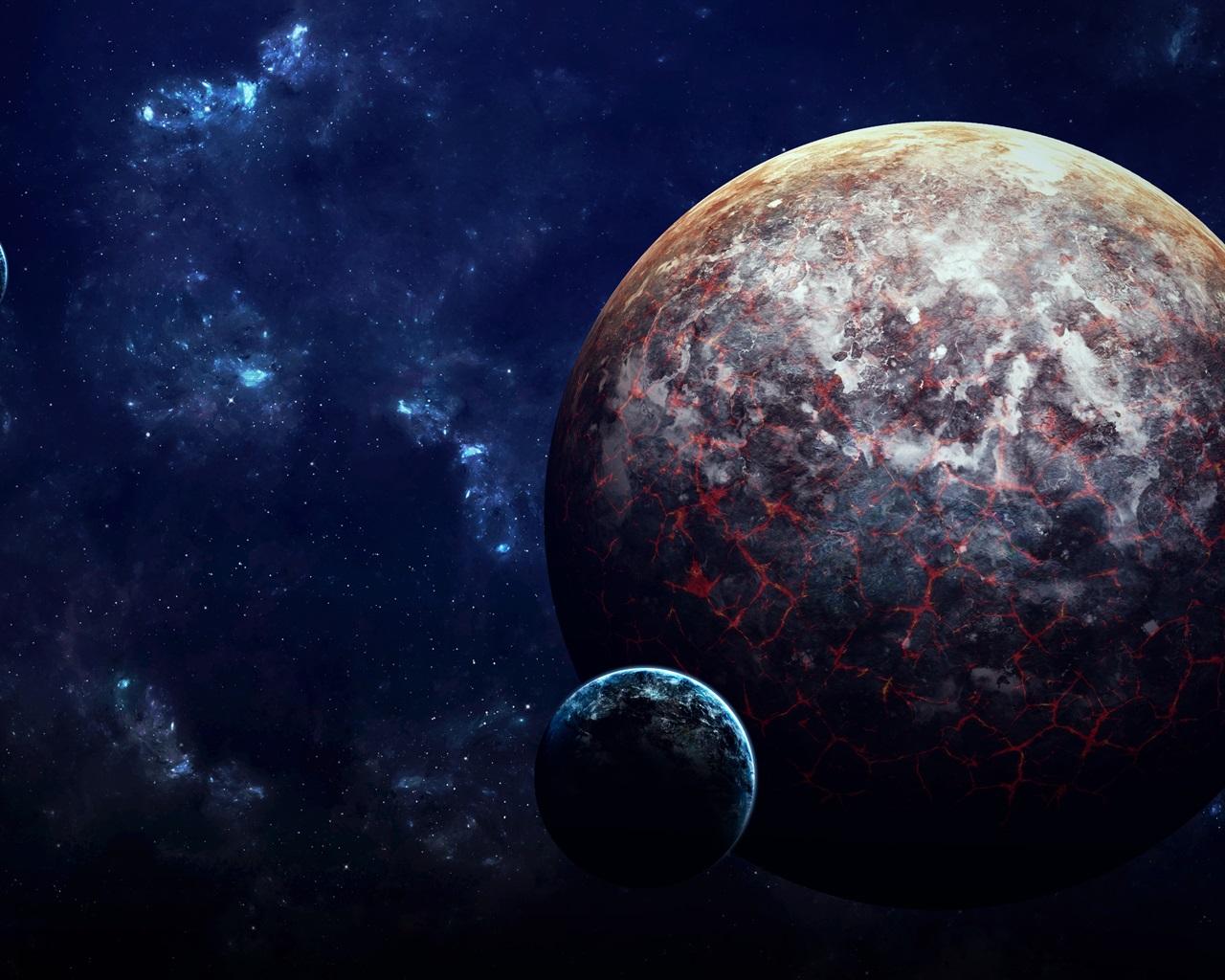 Fondos De Pantalla De Lava: Planetas, Lava, Ciencia Ficción, Espacio Fondos De