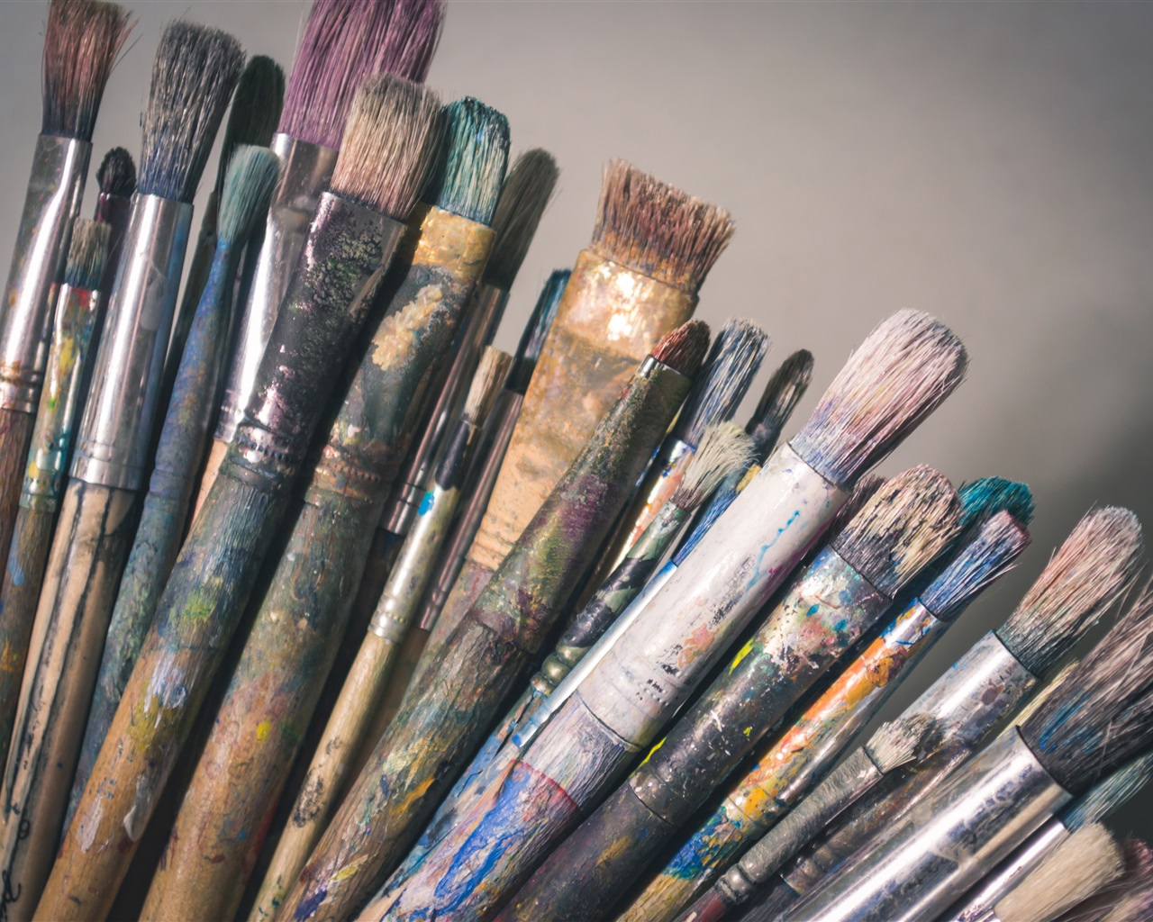 Ipad Retina Wallpaper Art Pain Brush: Fondos De Pantalla Muchos Pinceles De Pintura 3840x2160