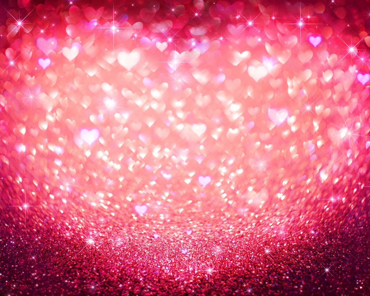 Pink Love Heart, Shine, Glitter 1080x1920 IPhone 8/7/6/6S