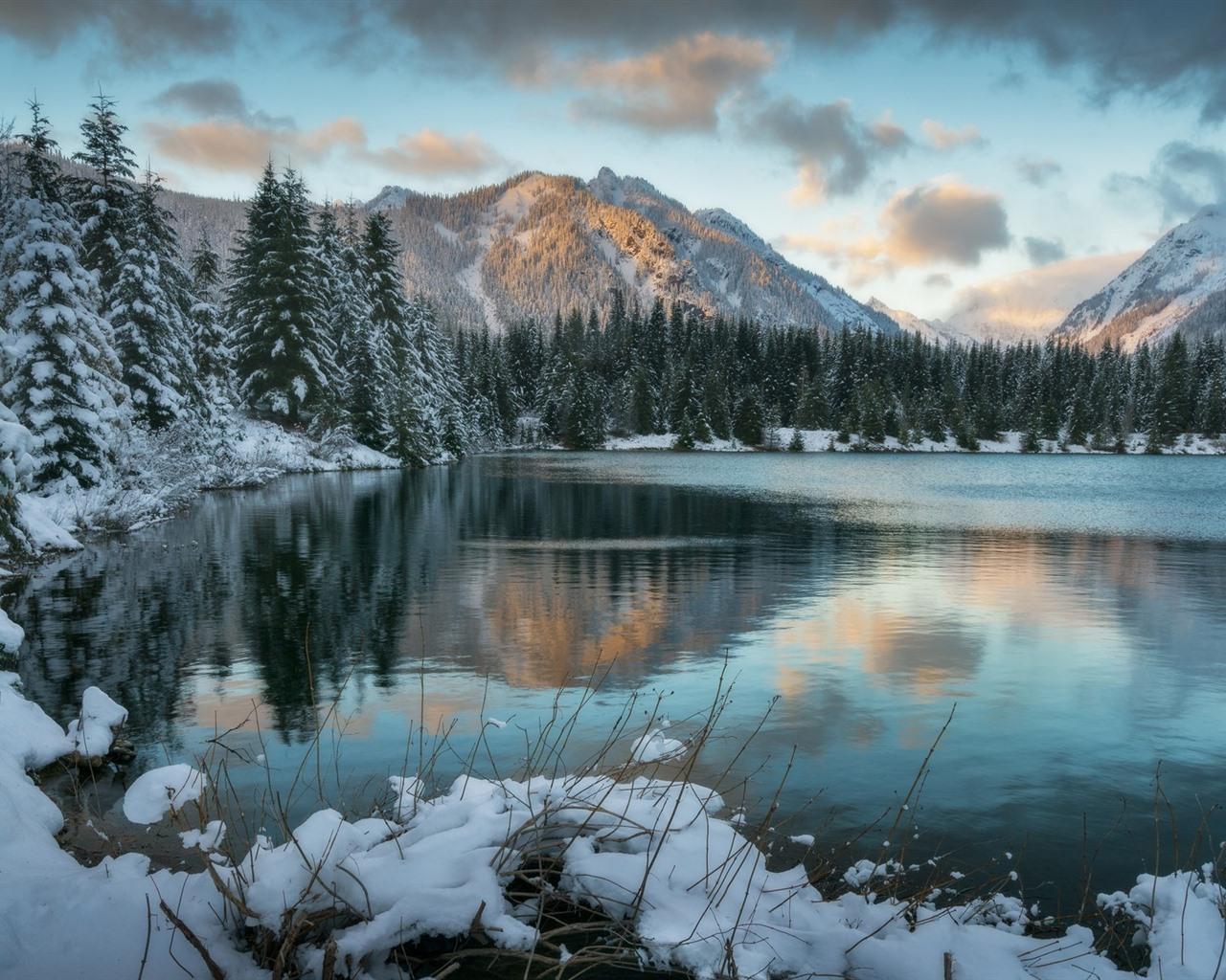Fonds D Ecran Hiver Neige Lac Montagnes 1920x1080 Full Hd 2k Image