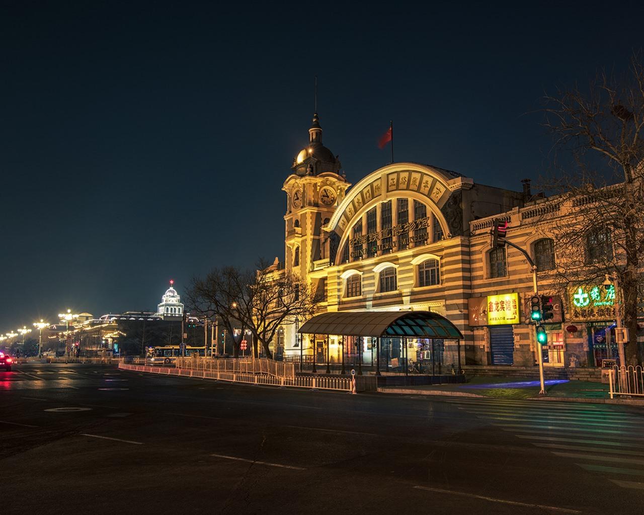 壁紙 中国鉄道博物館 都市の夜 道路 ライト 北京 中国 19x1080 Full Hd 2k 無料のデスクトップの背景 画像