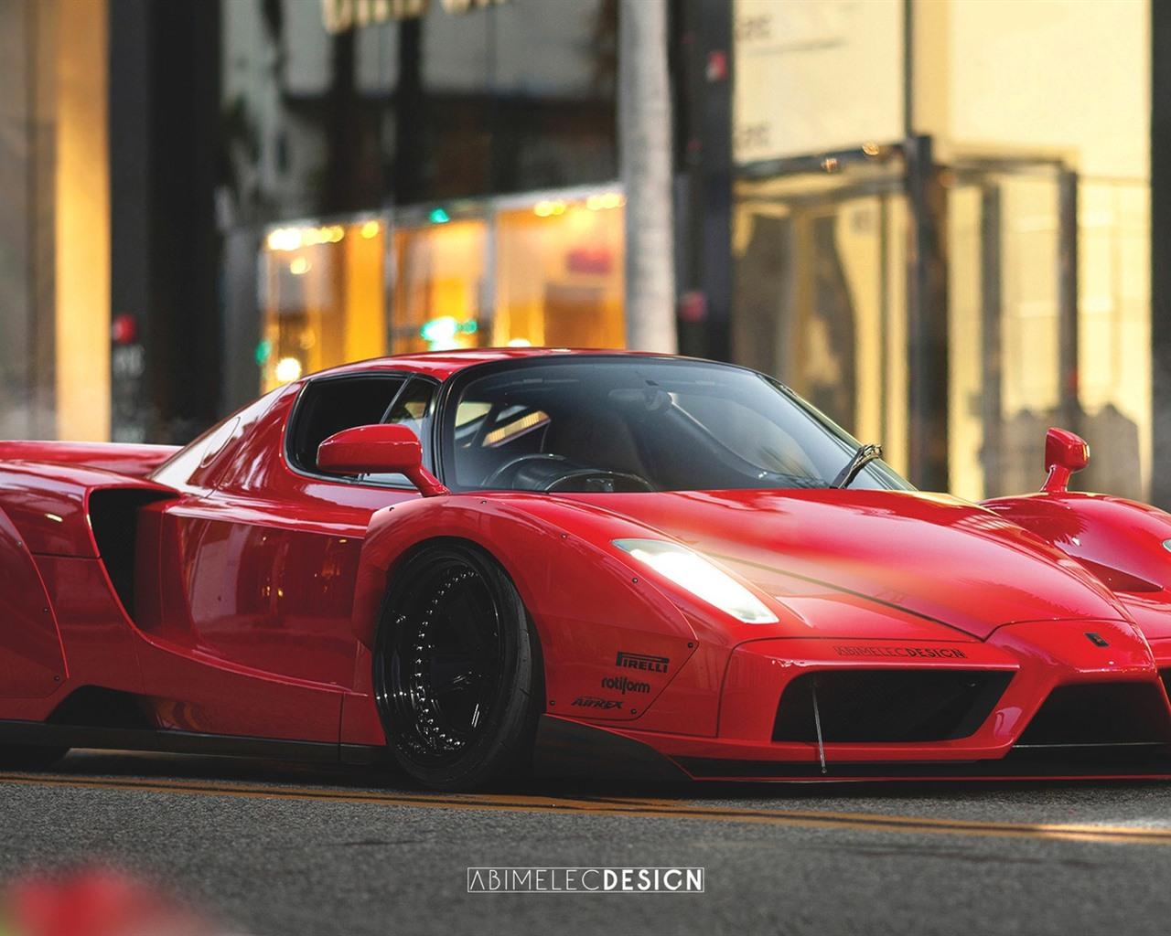 Wallpaper Ferrari Enzo Red Supercar 1920x1080 Full Hd 2k Picture Image
