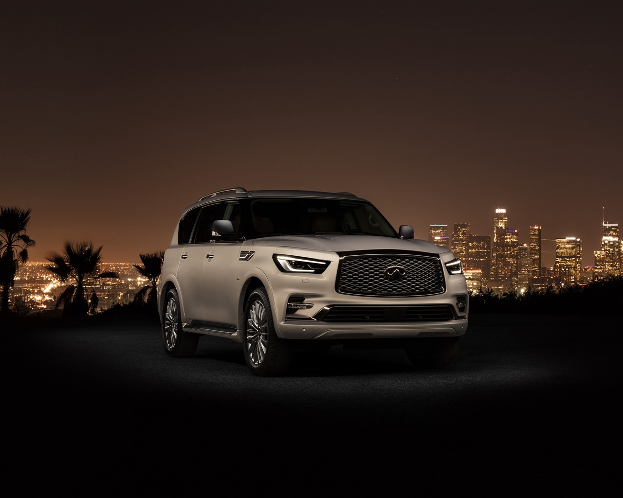 Wallpaper Infiniti Qx80 Suv Car Night City 3840x2160 Uhd