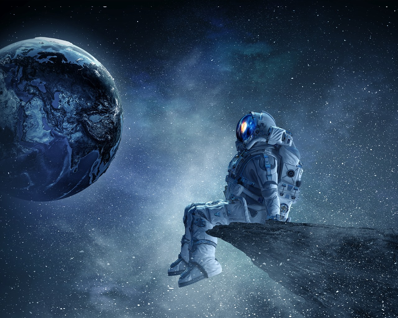 壁紙 宇宙飛行士 惑星 星 美しい空間 3840x2160 Uhd 4k 無料のデスクトップの背景 画像