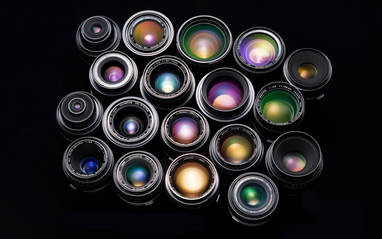 Bunte kombination von kamera objektiv hintergrundbilder for Minimal art zusammenfassung