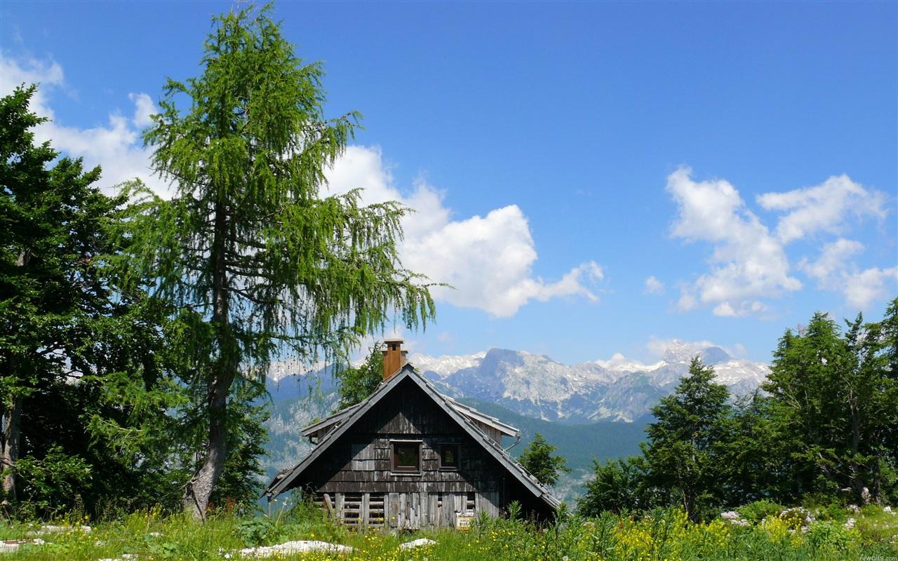 家的天空 美麗的大自然 壁紙 - 1280x800