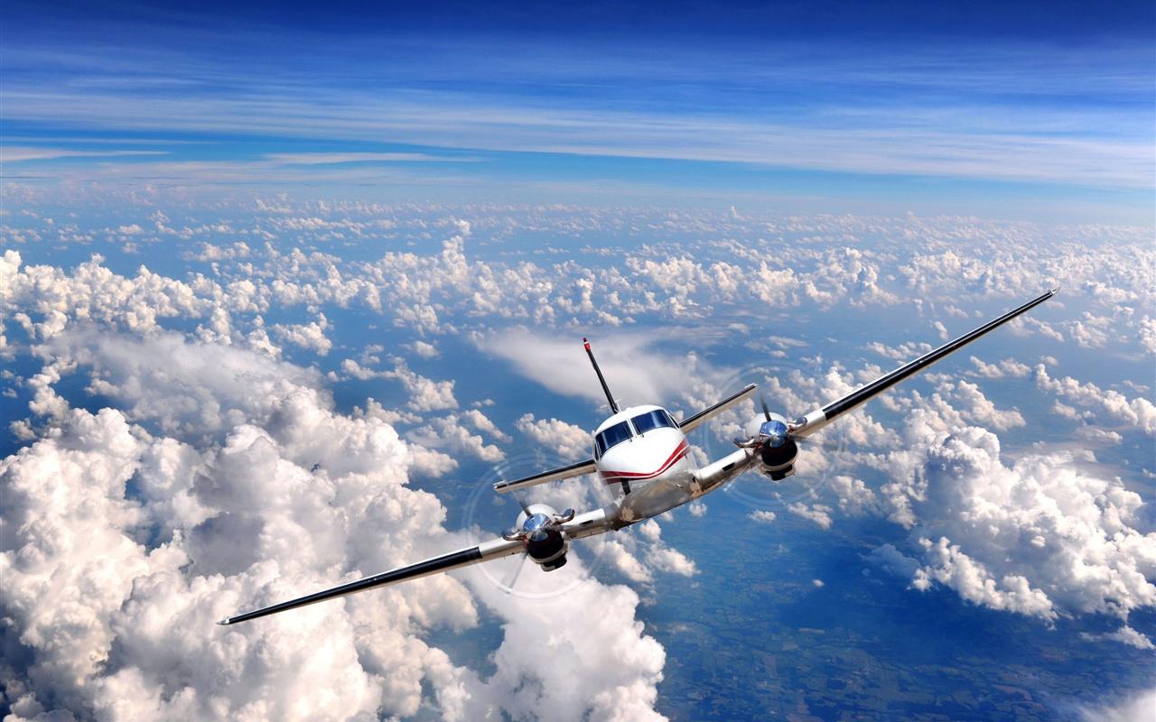 天空 雲層 飛機 壁紙 1280x800 壁紙 下載 天空 雲層