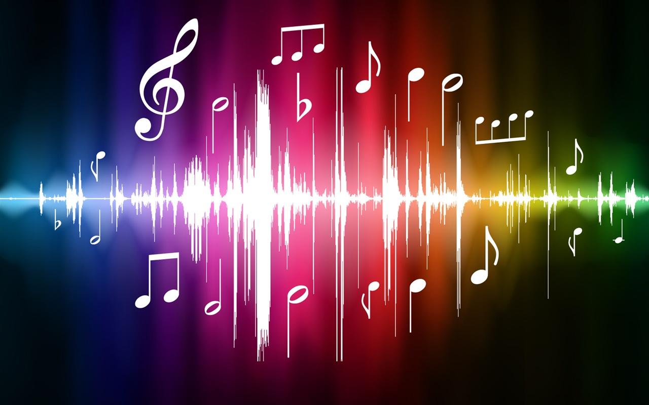 Music City Desktop Wallpapers 1280x800: Vector Espectro De La Música Fondos De Pantalla