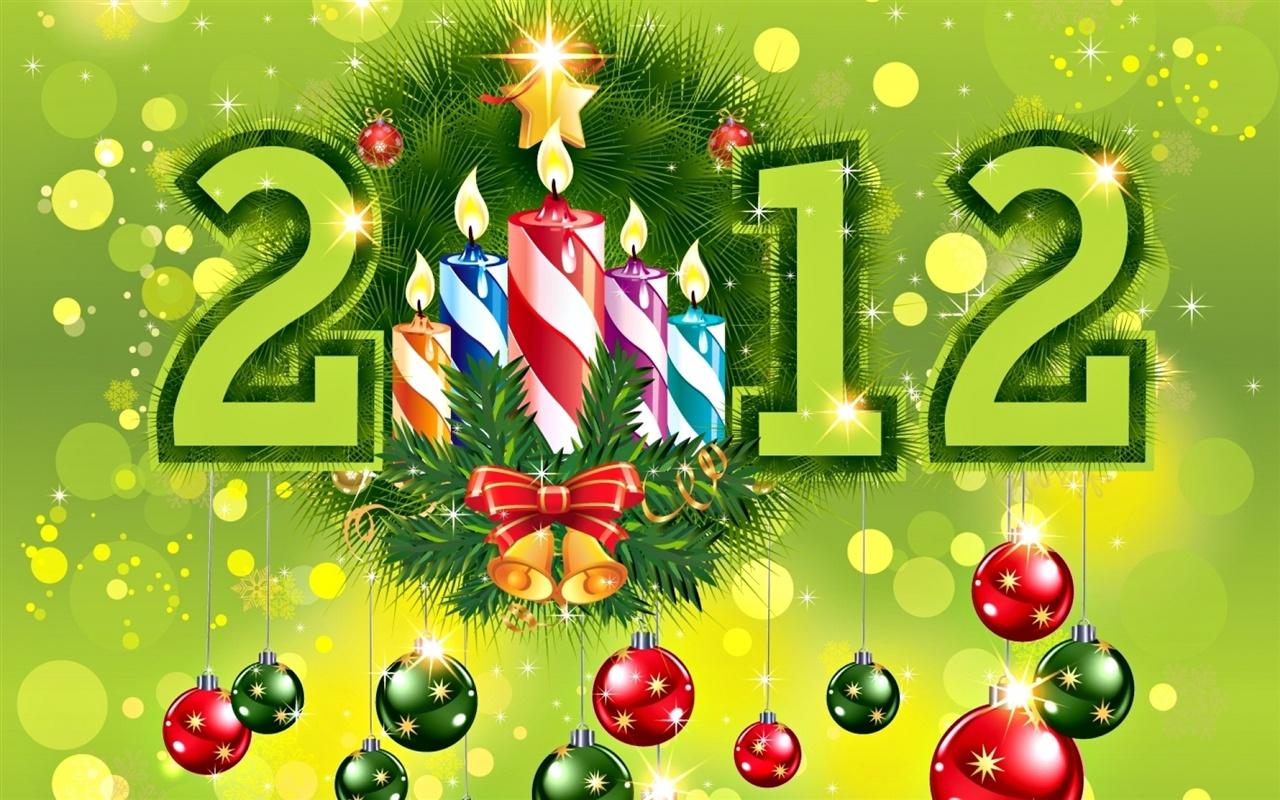 Fonds d 39 cran t l charger 1280x800 vert th me du nouvel an 2012 fond hd - Theme nouvel an ...