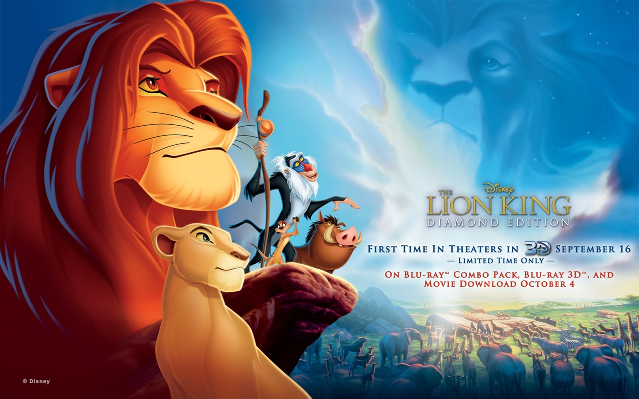 Disney movie The Lion King wallpaper - 1280x800