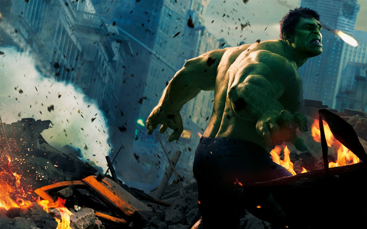 Hulk in The Avengers wallpaper - 1280x800