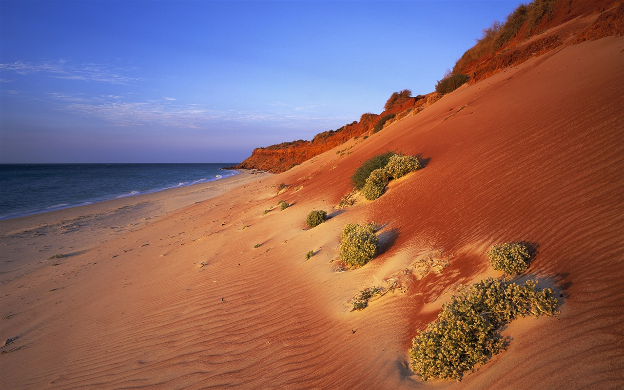 Australian scenery, red coast wallpaper - 1280x800