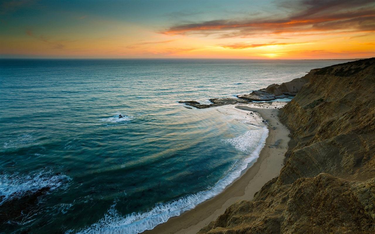 wallpaper beautiful sunrise sea beach 1920x1200 hd picture, image