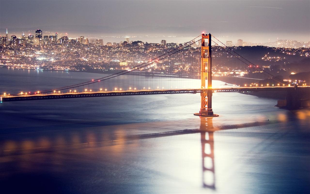 Must see Wallpaper Night Golden Gate Bridge - Golden-gate-bridge-San-Francisco-Night-bridge-lights_1280x800  Best Photo Reference-42887.jpg