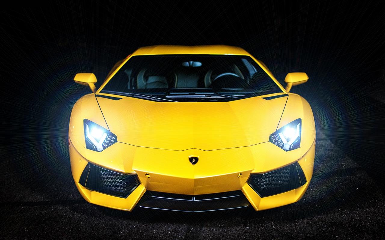 壁紙 黄色のランボルギーニaventador Lp700 4 2560x1600 Hd 無料のデスクトップの背景 画像