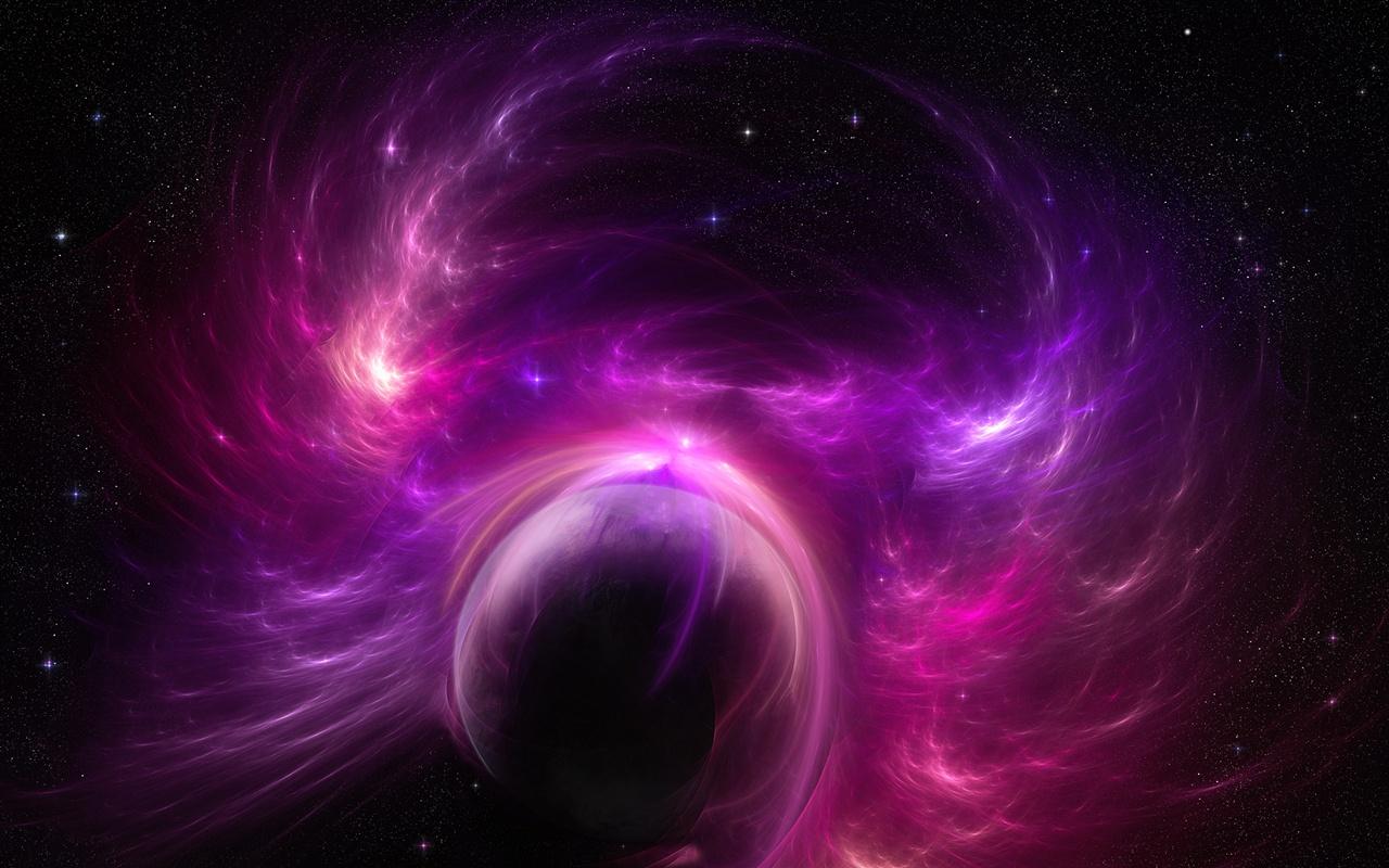 Wallpaper Universe Planet Purple Storm 1920x1200 HD Picture Image