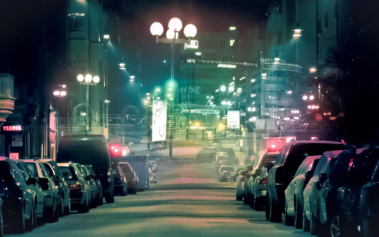 Hd wallpaper city - Calles De La Ciudad Por La Noche Los Veh 237 Culos