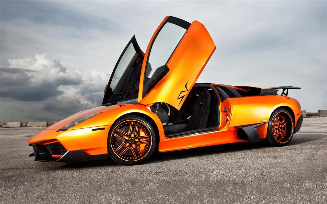 Wallpaper Lamborghini Murcielago Lp670 Sv Orange Supercar 1920x1200