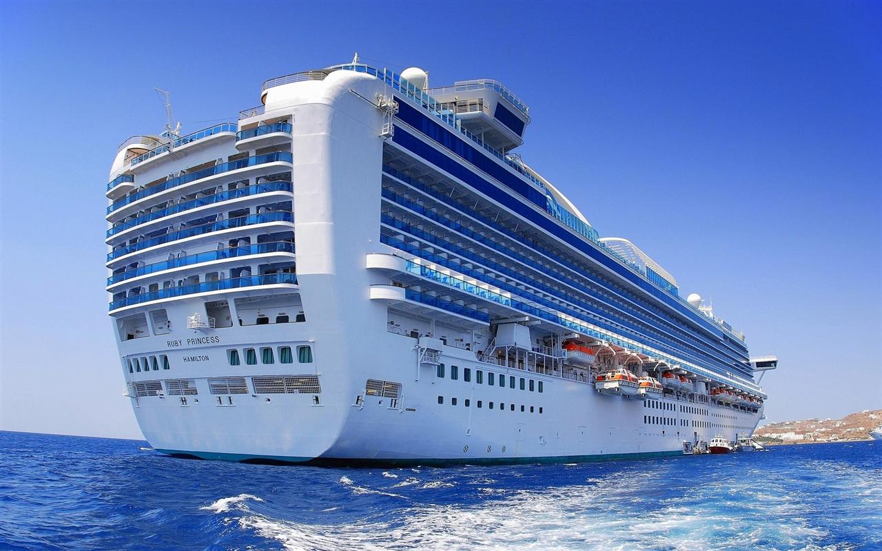 海のビッグクルーズ船 壁紙 - 1280x800    1280x800 壁紙ダウンロード