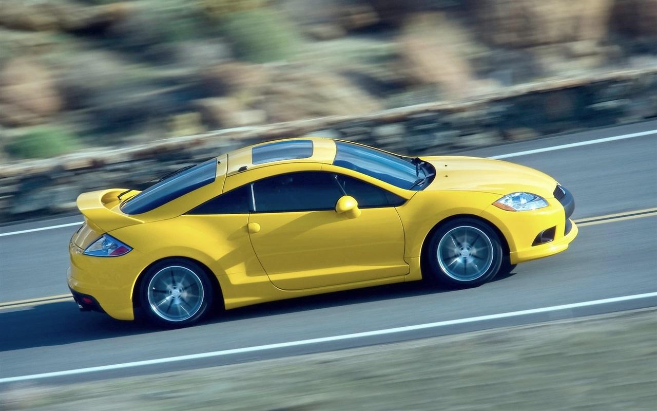 桌布 三菱黃色的超級跑車,速度,路 1920x1200 Hd 高清桌布 圖片 照片