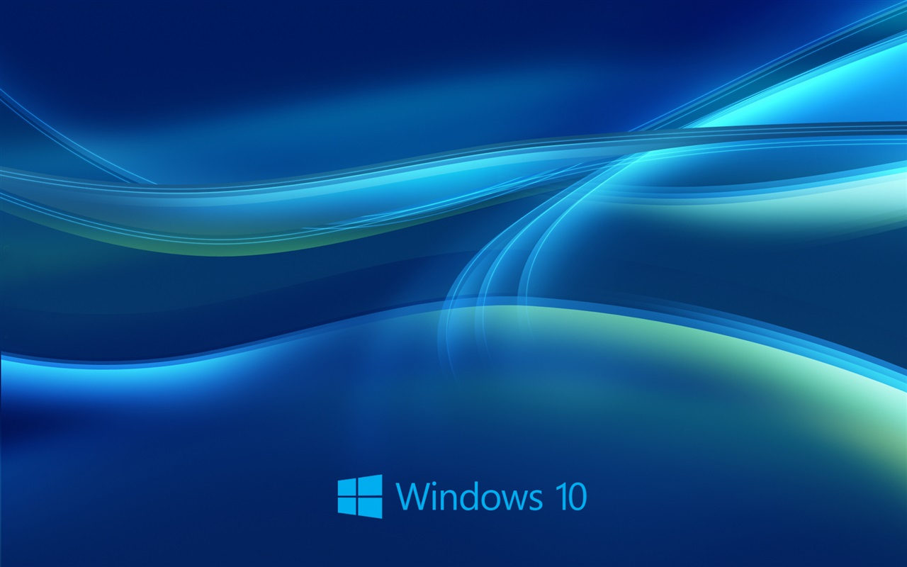 Windows 10 system, abstract blue background Wallpaper | 1280x800 ...