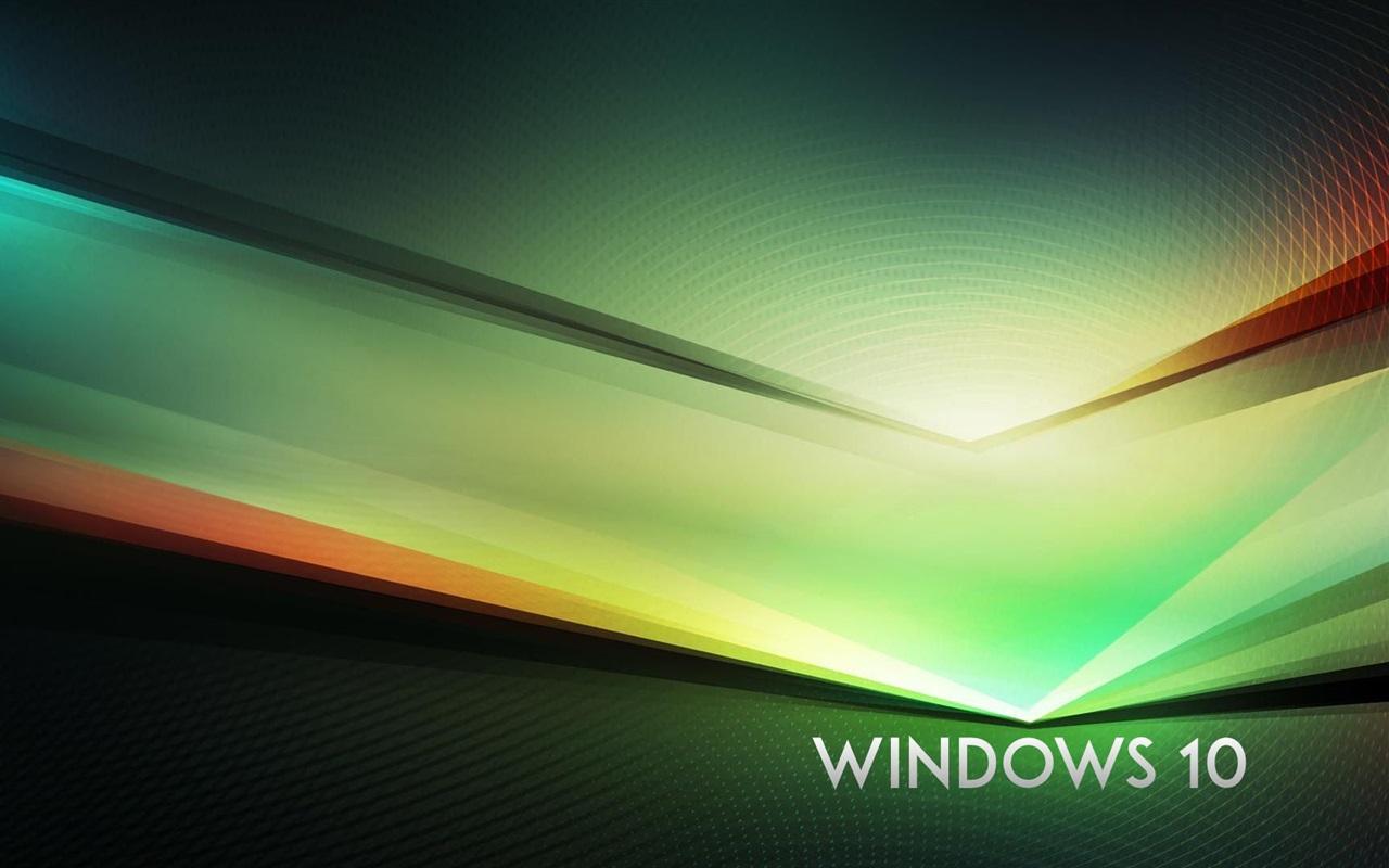 windows 10的主题,绿色抽象背景 壁纸 - 1280x800图片