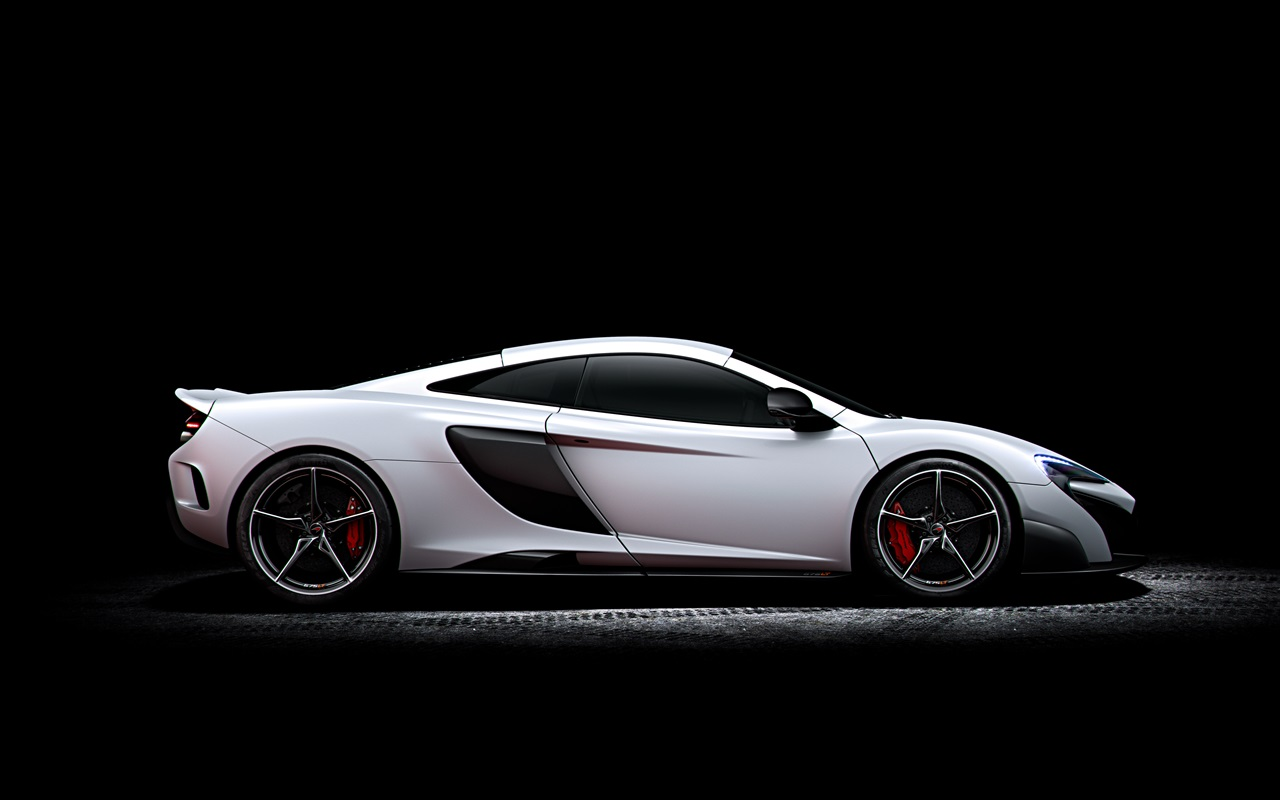Wallpaper mclaren 675lt white supercar side view 3840x2160 uhd 4k picture image - Car side view wallpaper ...
