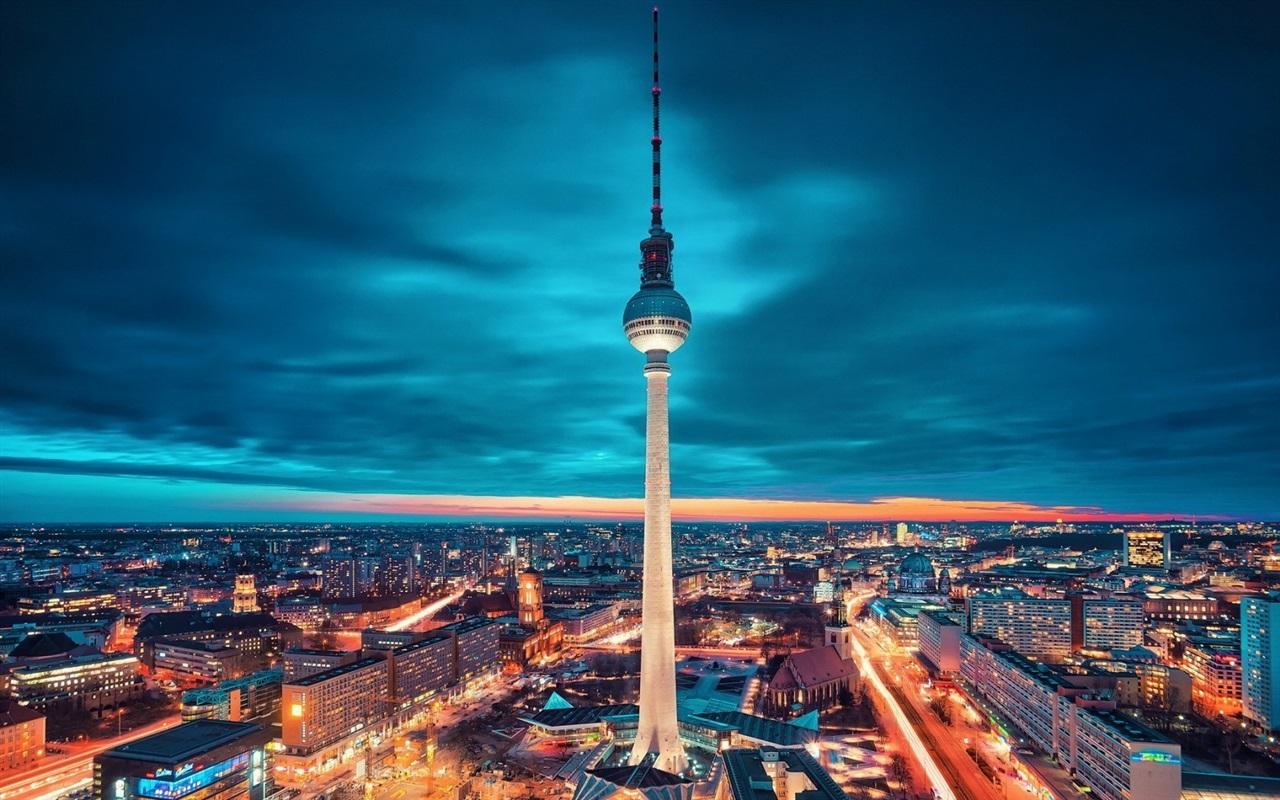 Обои германия, berlin, ночь, фонари, улица. Города foto 17