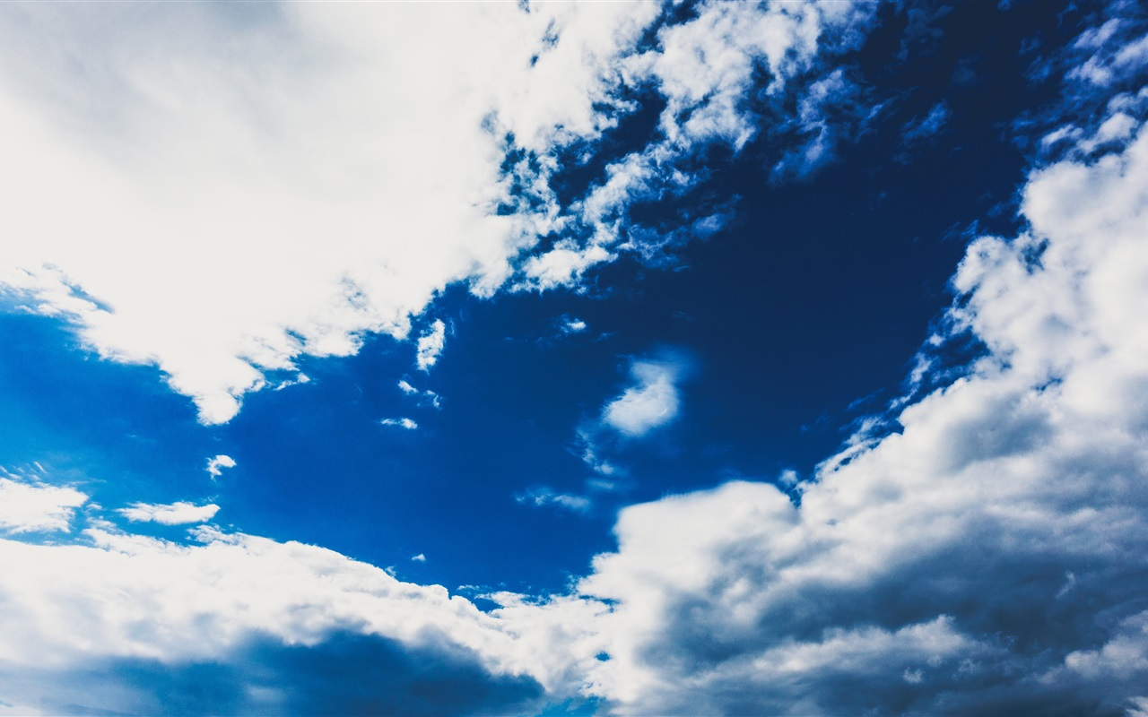 Blue sky white clouds nature wallpaper 1280x800 - Wallpapers 1280x800 nature ...
