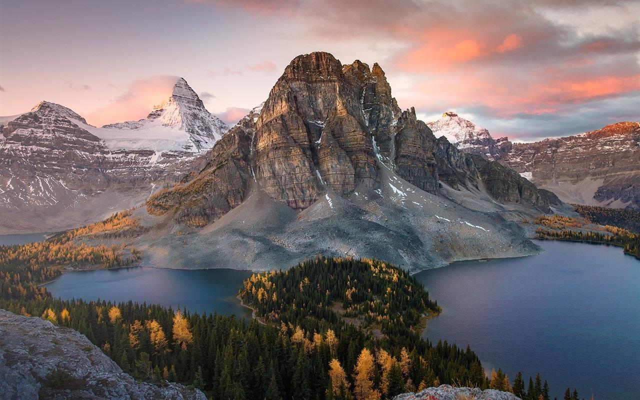Fondos De Pantalla Canadá Montañas Lago Bosque Otoño