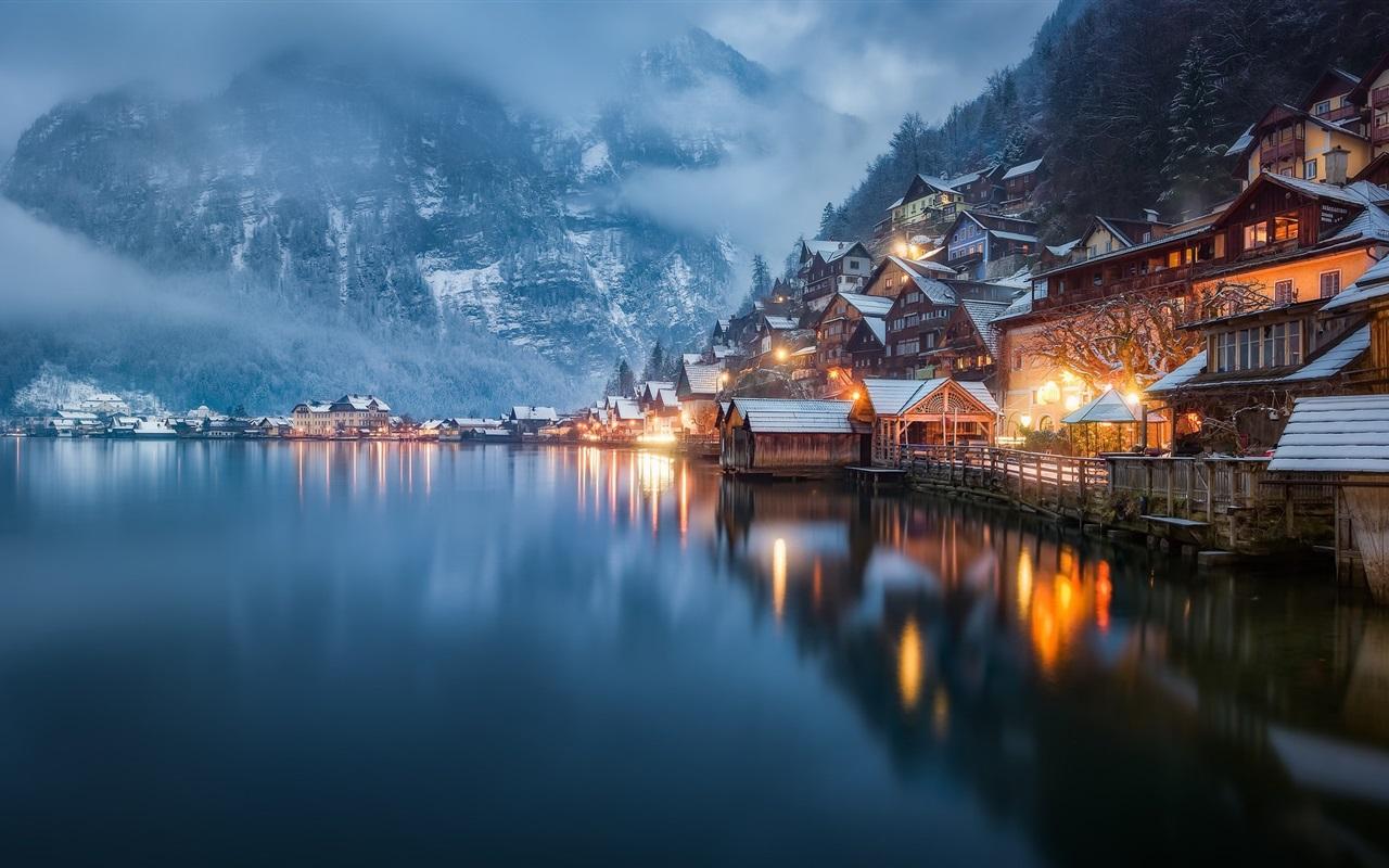Обои австрия, курорт, ночь, austria. Города foto 10