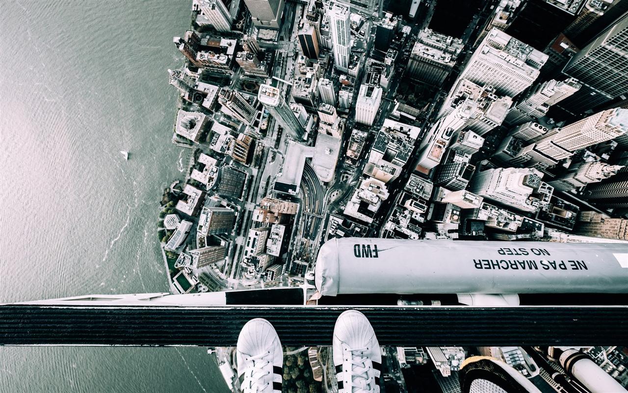 壁紙 ニューヨーク トップビュー 足 ヘリコプター 19x10 Hd 無料のデスクトップの背景 画像