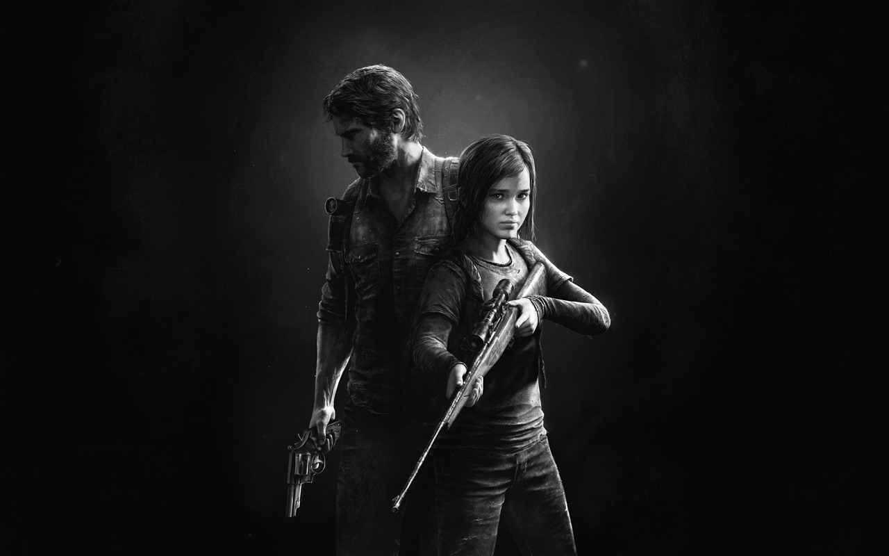Wallpaper The Last Of Us, Black And White Picture