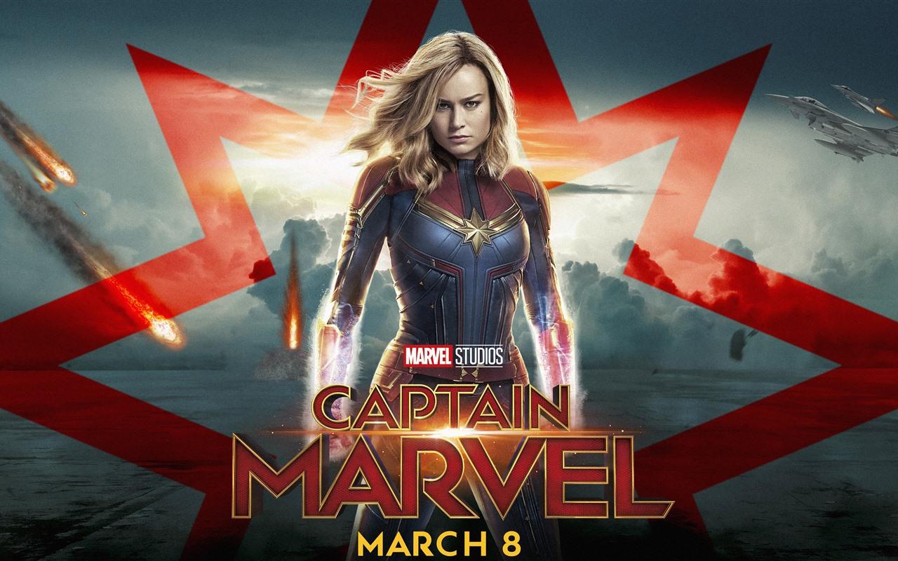 Movie Poster 2019: Captain Marvel, Brie Larson 1242x2688 IPhone XS Max